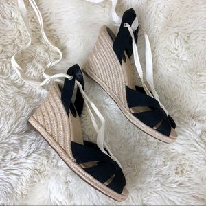 Ann Taylor LOFT Lace-up Espadrille Wedges